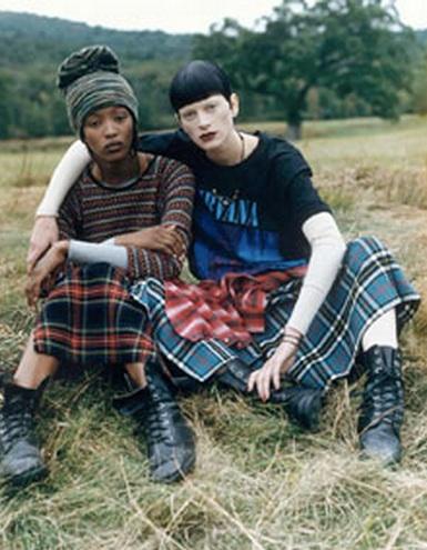 Piezas Perry Ellis por Marc Jacobs de 1992, y se invento el Grunge Glam