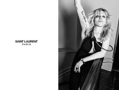 Courtney Love para Saint Laurent 2013